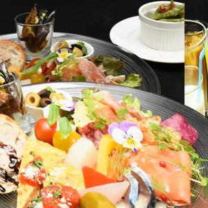 オジャの絶品メニュー 前菜の盛合わせセットプラン 2,455円 (税込2,700円)